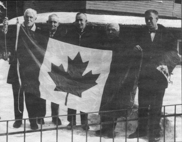 Raising the Maple Leaf Flag