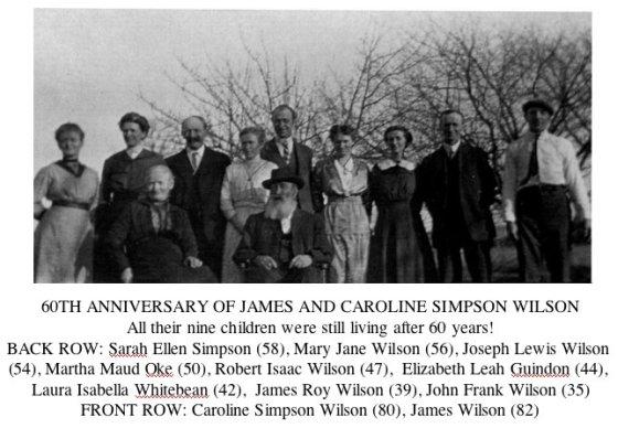 60th Anniversary of James and Caroline Simpson Wilson