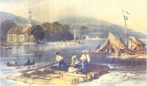 Lumber rafts
